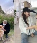 '4년차 연인' 정진운♥경리, 달달 데이트 포착! 반려견과 함께한 '럽스타그램'